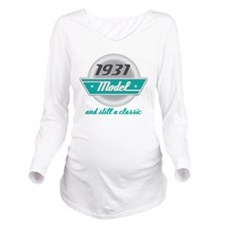 1931 Birthday Vintage Chrome Long Sleeve Maternity