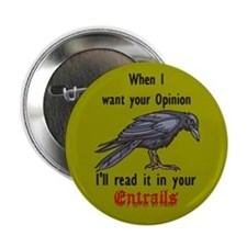 Raven & Entrails Button