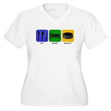 Eat Sleep Hockey Plus Size T-Shirt