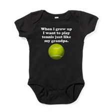 Play Tennis Like My Grandpa Baby Bodysuit
