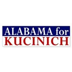 Alabama for Kucinich bumper sticker