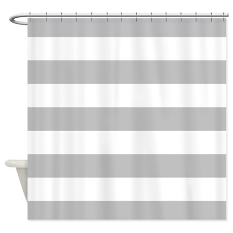 Grey And White Stripe Shower Curtain By Inspirationzstore