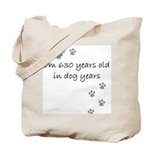90 dog years 2-1.JPG Tote Bag