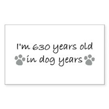 90 dog years mug.JPG Decal