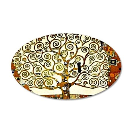 Klimt - The Tree of Life 20x12 Oval Wall Decal