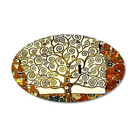 Klimt - The Tree of Life 35x21 Oval Wall Decal