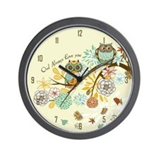 Autumn Owl Wall Clock
