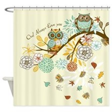 Autumn Owl Shower Curtain