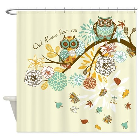 Autumn Owl Shower Curtain By Gatterwe