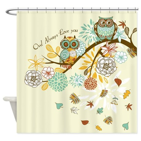 Autumn Owl Shower Curtain By Gatterwe
