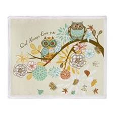 Autumn Owl Throw Blanket