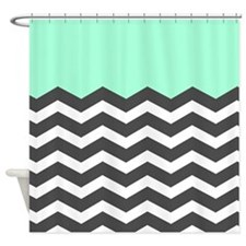 Black And White Chevron Shower Curtains | Black And White Chevron