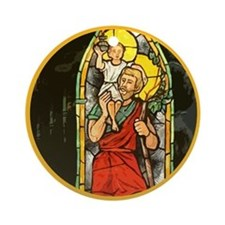 St Christopher Rear View Mirror Car Ornament