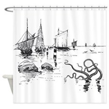 Lurking Kraken Octopus Shower Curtain