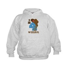 4th Birthday Cowboy Personalized Hoody