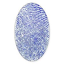 Blue Fingerprint Oval Decal