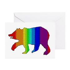 MOSAIC RAINBOW WALKING BEAR Greeting Cards (10Pack
