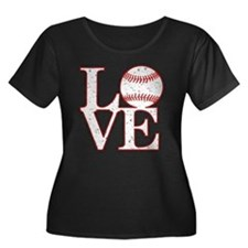 Love Baseball Classic Plus Size T-Shirt