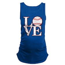 Love Baseball Classic Maternity Tank Top