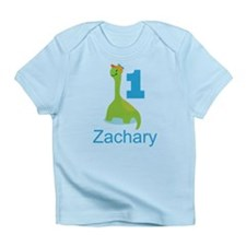 1st Birthday Personalized Dinosaur Infant T-Shirt