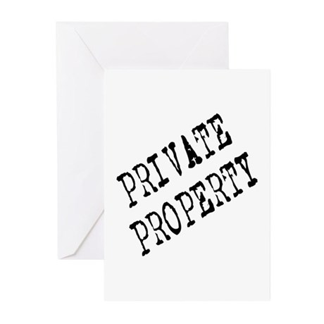 Private Property Greeting Cards (Pk of 10)