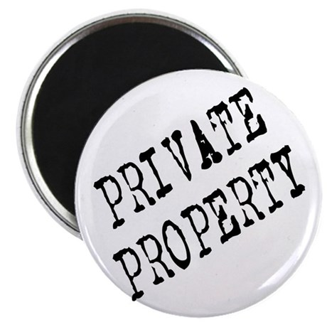 Private Property Magnet