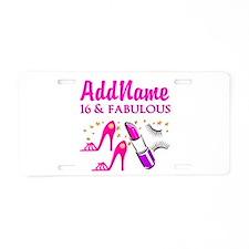 SWEET 16TH Aluminum License Plate