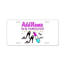 SNAZZY 16TH Aluminum License Plate