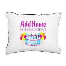 16TH BIRTHDAY Rectangular Canvas Pillow