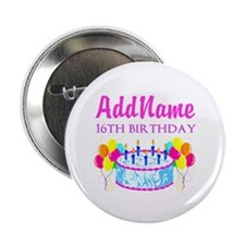 "16TH BIRTHDAY 2.25"" Button"