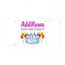 16TH BIRTHDAY Aluminum License Plate