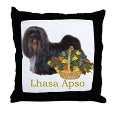 Lhasa Apso Easter Spring Nena Throw Pillow