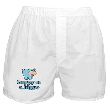 Happy As A Hippo Boxer Shorts