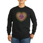 Biohazard Heart Long Sleeve Dark T-Shirt