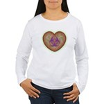Biohazard Heart Women's Long Sleeve T-Shirt