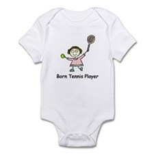 Born Tennis Player Infant Bodysuit