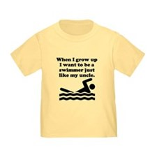 Swimmer Like My Uncle T-Shirt