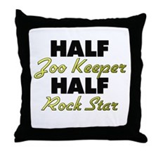 Half Zoo Keeper Half Rock Star Throw Pillow