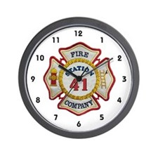 Nj fire Wall Clock