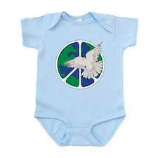 Peace Sign & Dove Infant Bodysuit