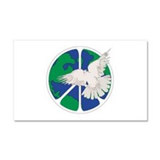 Peace Sign & Dove Car Magnet 20 x 12