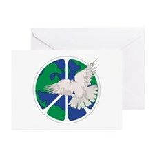 Peace Sign & Dove Greeting Cards (Pk of 20)