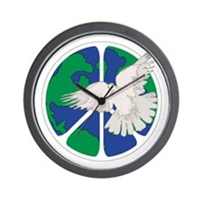 Peace Sign & Dove Wall Clock