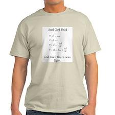 God Said Maxwell's Equations Light T-Shirt