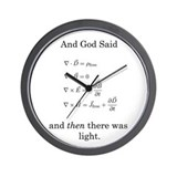 God Said Maxwell's Equations Wall Clock