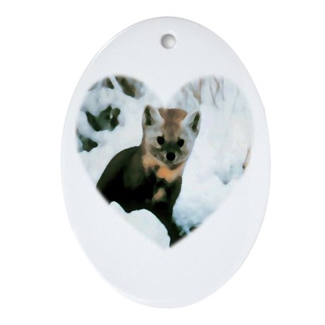 Little Fox Oval Ornament