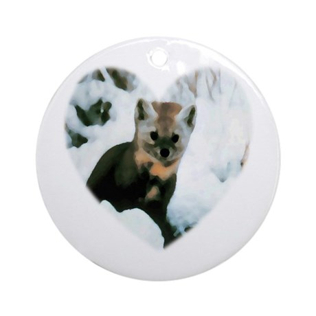Little Fox Ornament (Round)