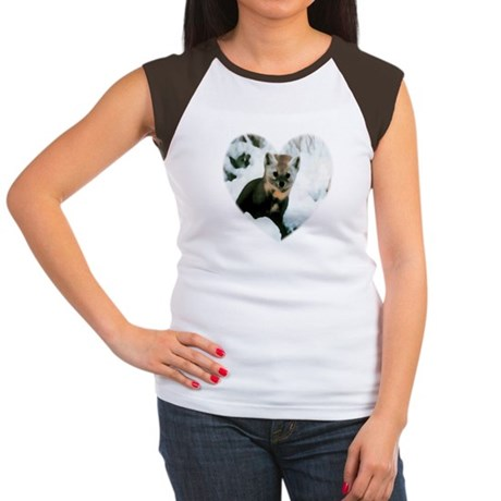 Little Fox Women's Cap Sleeve T-Shirt