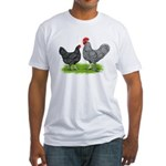 Marans Rooster and Hen Fitted T-Shirt