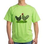 Marans Rooster and Hen Green T-Shirt